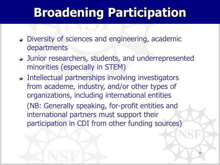 Broadening Participation