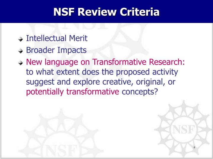 NSF Review Criteria
