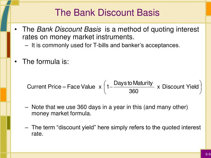 bank discount calculation
