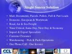 single source solution