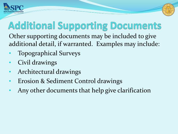 Additional Supporting Documents