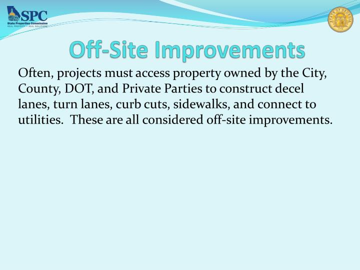 Off-Site Improvements