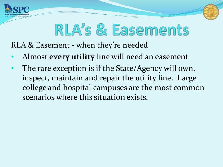 RLA's & Easements