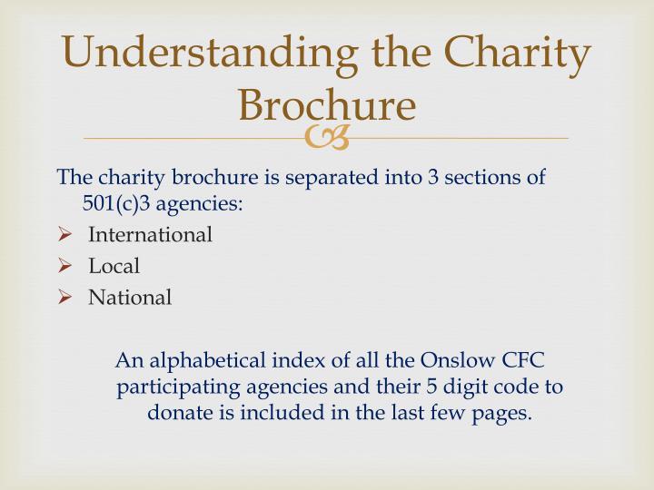 Understanding the Charity Brochure