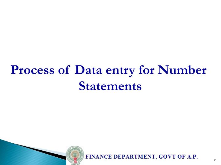 Process of Data entry for Number