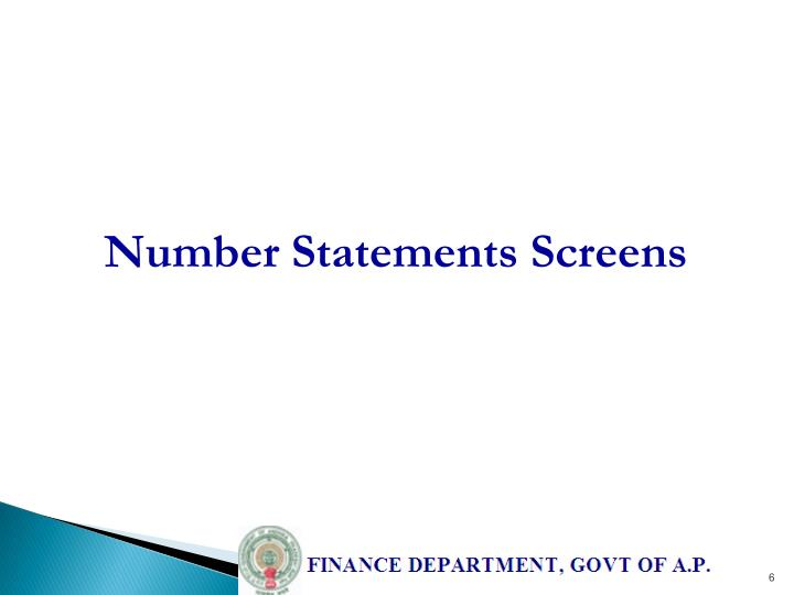 Number Statements Screens