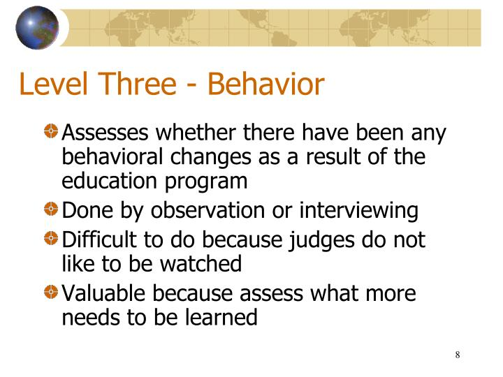 Level Three - Behavior