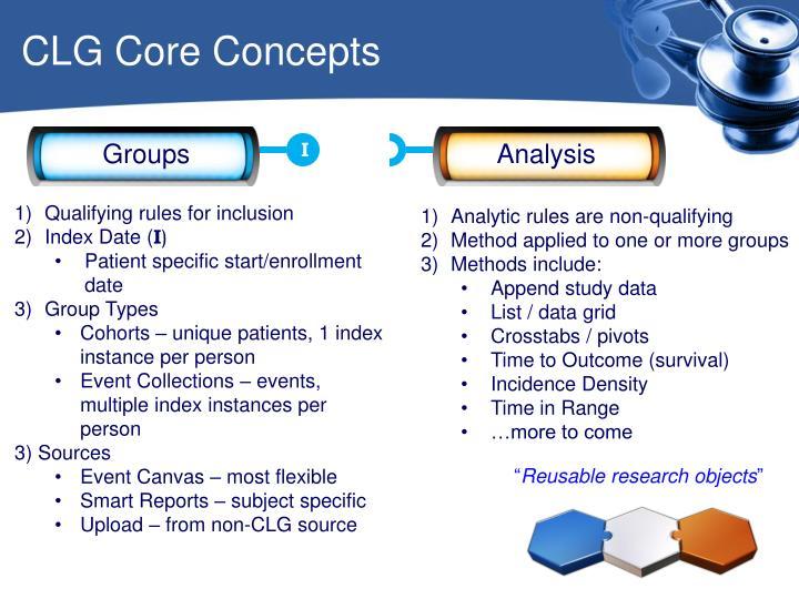 CLG Core Concepts