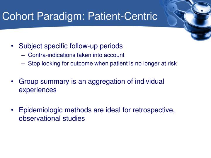 Cohort Paradigm: Patient-Centric