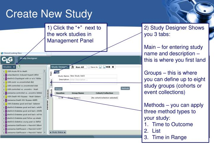Create New Study