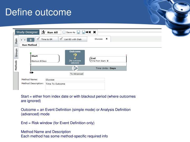 Define outcome