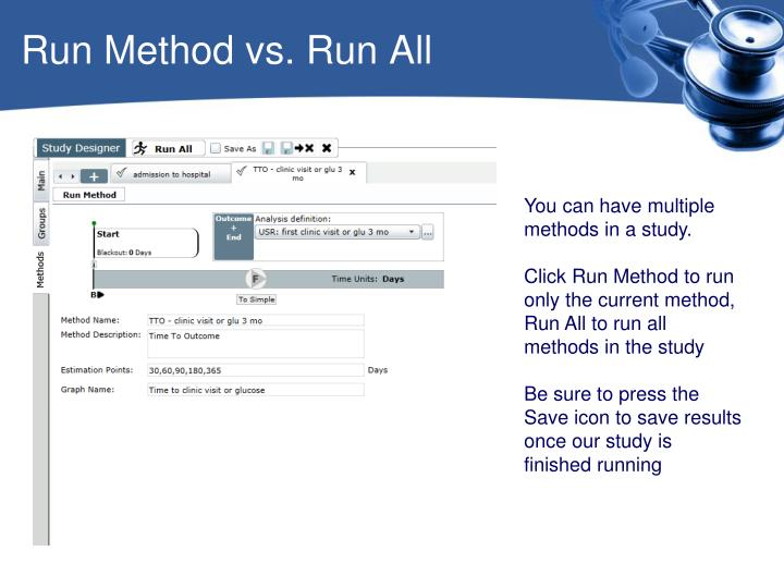 Run Method vs. Run All
