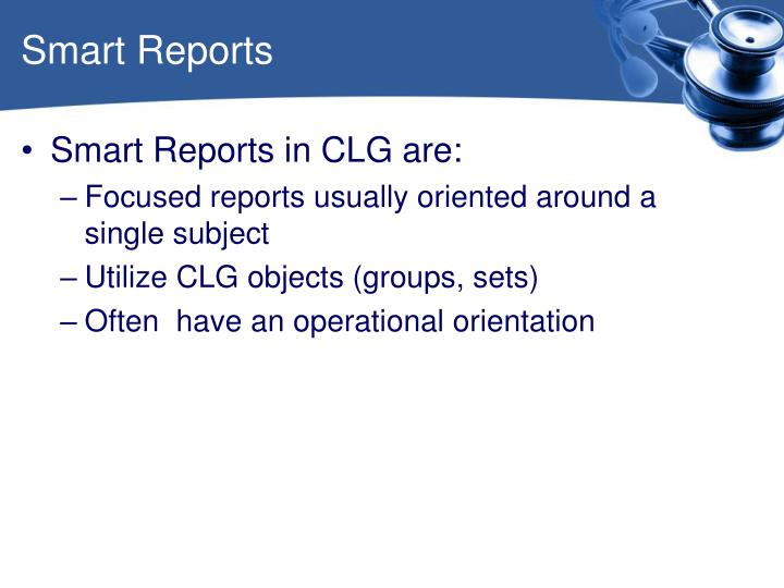 Smart Reports