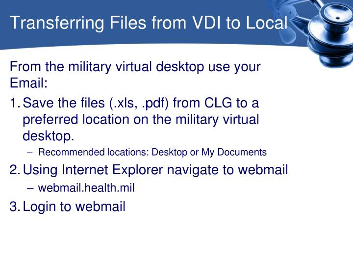Transferring Files from VDI to Local