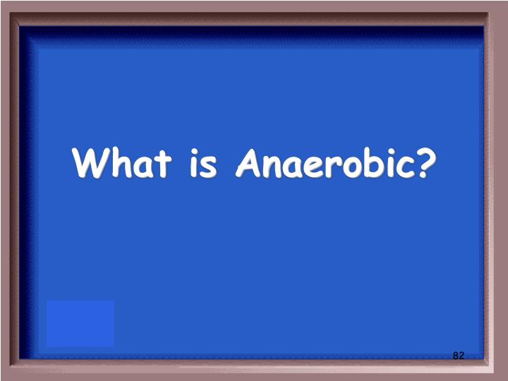 What is Anaerobic?