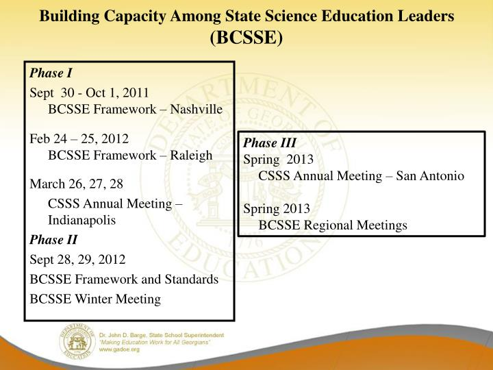 Building Capacity Among State Science Education Leaders