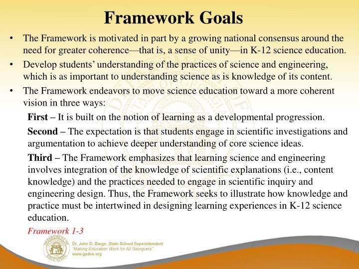 Framework Goals