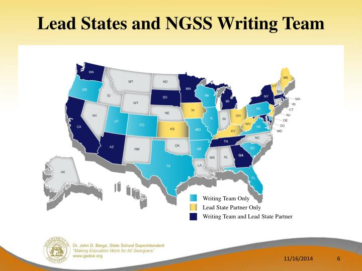Lead States and NGSS Writing Team