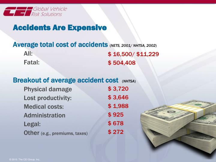 Accidents Are Expensive