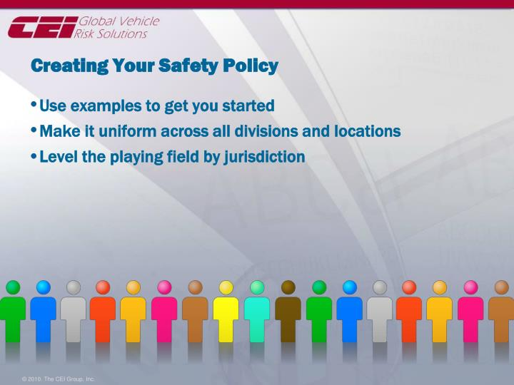 Creating Your Safety Policy