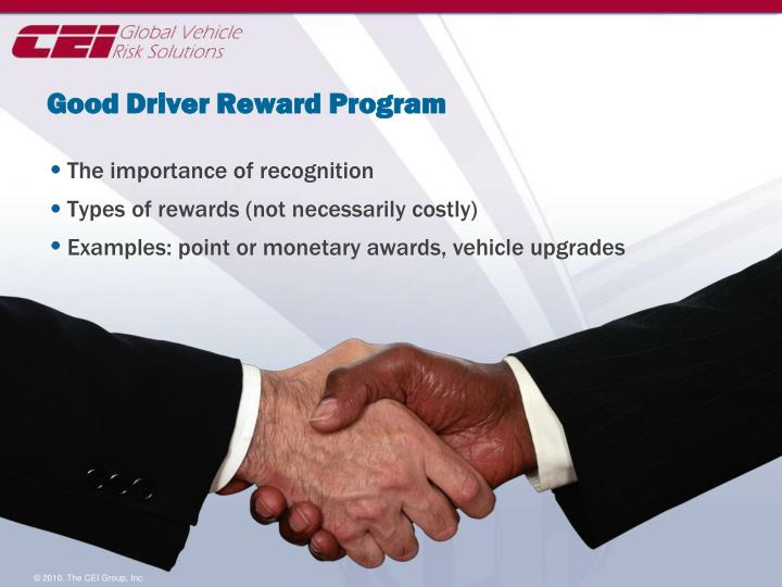 Good Driver Reward Program