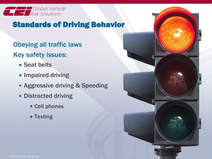 Standards of Driving Behavior