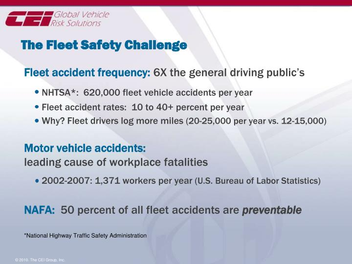The fleet safety challenge