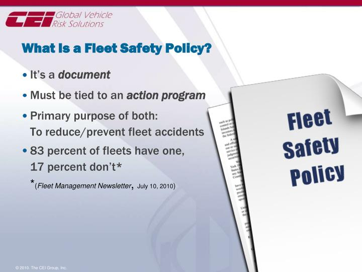 What Is a Fleet Safety Policy?
