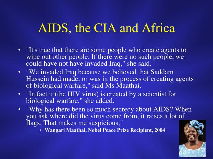 AIDS, the CIA and Africa