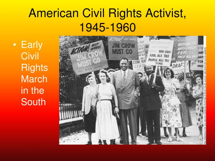 American Civil Rights Activist,