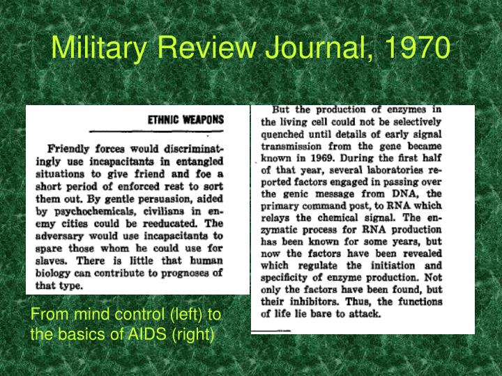 Military Review Journal, 1970