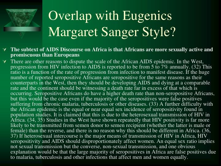 Overlap with Eugenics Margaret Sanger Style?