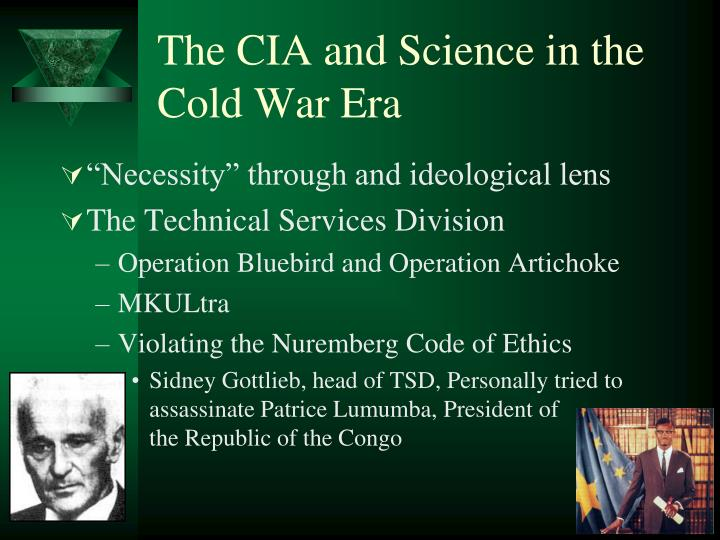 The CIA and Science in the Cold War Era