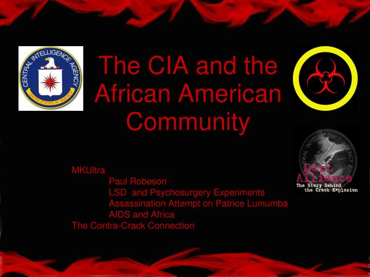 The cia and the african american community