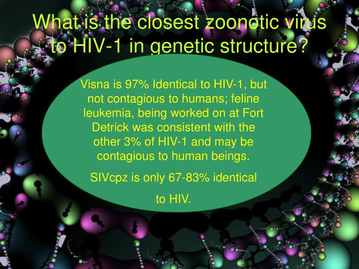 What is the closest zoonotic virus to HIV-1 in genetic structure?