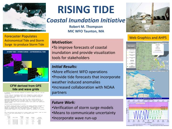 Rising tide coastal inundation initiative robert m thompson mic wfo taunton ma