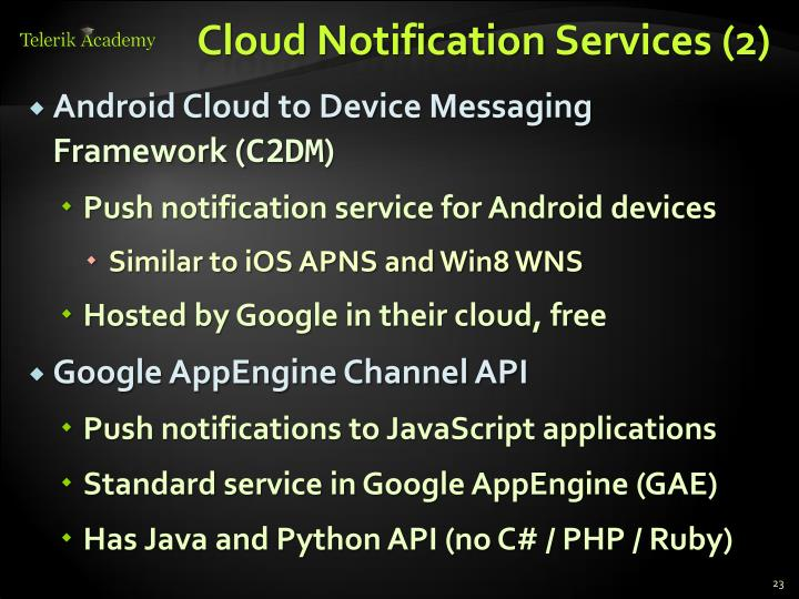 Cloud Notification