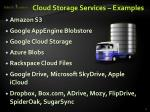 cloud storage services examples