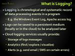 what is logging