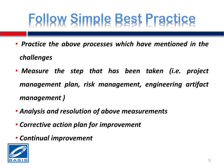 Follow Simple Best Practice