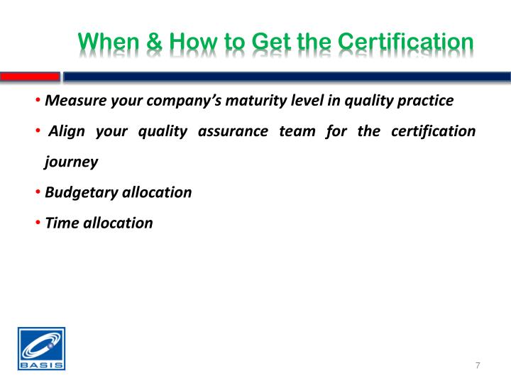 When & How to Get the Certification