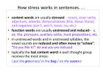 how stress works in sentences