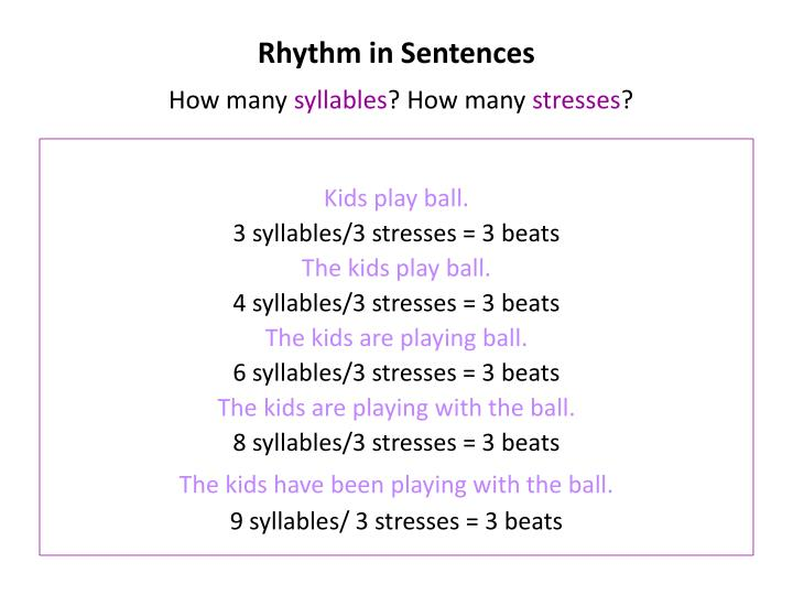 Rhythm in Sentences