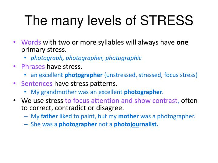 The many levels of STRESS