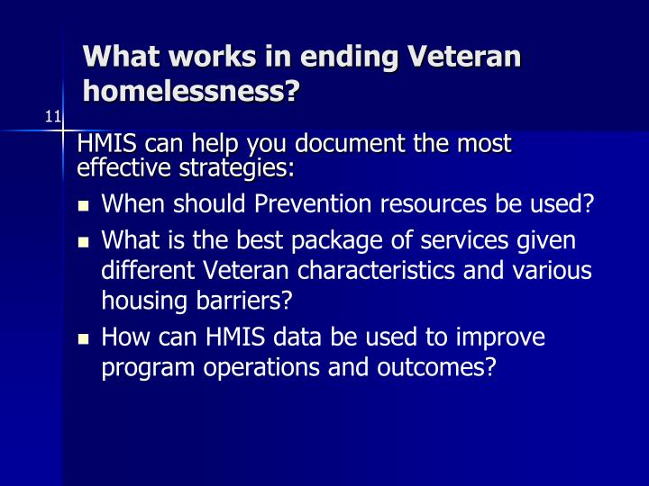 What works in ending Veteran homelessness?