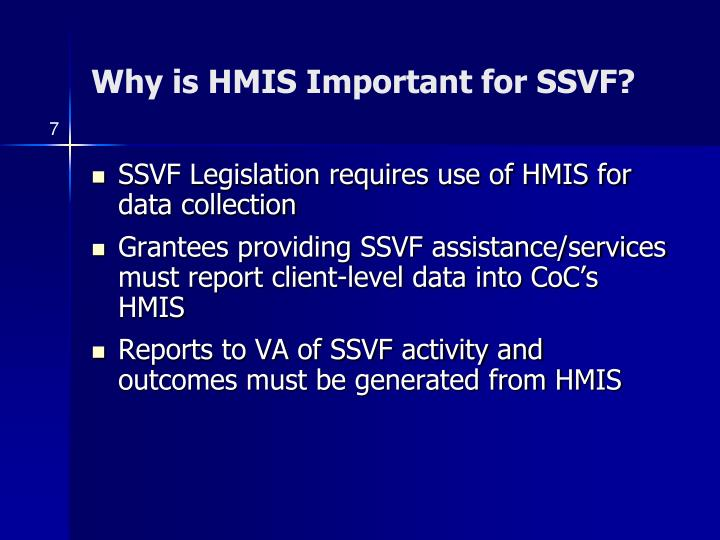 Why is HMIS Important for SSVF?