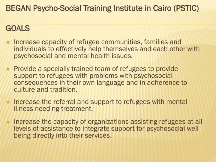 BEGAN Psycho-Social Training Institute in Cairo (PSTIC)