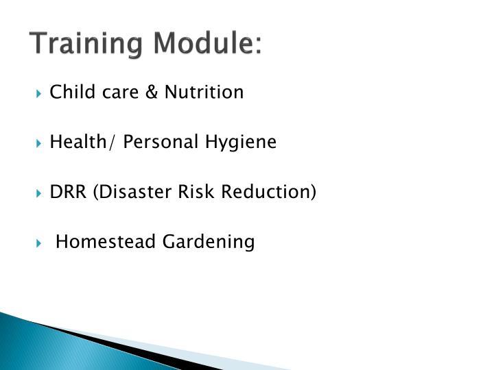 Training Module:
