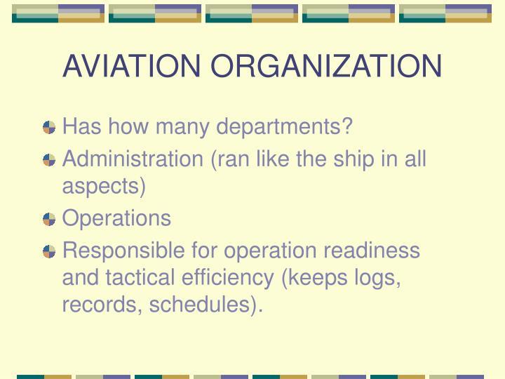 AVIATION ORGANIZATION