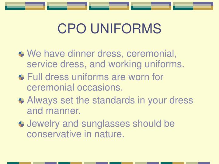 CPO UNIFORMS